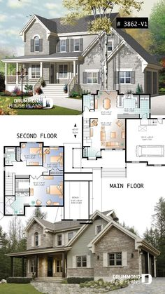 CRAFTSMAN house plan style, Master suite, well appointed kitchen and double gara. - CRAFTSMAN house plan style, Master suite, well appointed kitchen and double garage CRAFTSMAN house - Sims 4 House Plans, Garage Floor Plans, Dream House Plans, House Floor Plans, Dream Houses, Little House Plans, Little Houses, Sims Building, Building A House