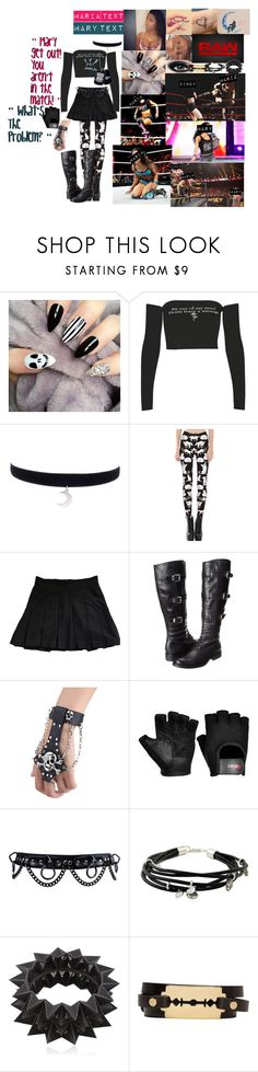 """""""👑 Maria Frost 👑- Mary Interrupting Her Match"""" by iron-maiden-amy ❤ liked on Polyvore featuring Nicki Minaj, Bourjois, Theory, Vince Camuto, WWE, NOVICA, VOJD Studios, McQ by Alexander McQueen, wweoc and wweattire"""