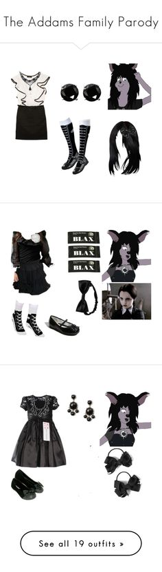 """""""The Addams Family Parody"""" by brainyxbat ❤ liked on Polyvore featuring Amy Byer, Coast, claire's, Sonoma life + style, Disney, Nordstrom, Gap, Blax, Converse and American Apparel"""