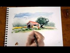 Aquarelle - peindre un cabanon de Provence (2/2) - watercolor tutorial