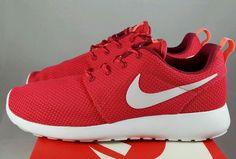nike rosherun roshe run running shoes red white atomic pink womens sz 8.5 NEW! #Nike #RunningCrossTraining