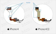 Connecteur de charge iPhone 4 4S.