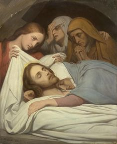 Christ and the Maries (The Entombment) / Cristo y las Marías (El Entierro) // 1854 // Ary Scheffer // National Gallery of Victoria, Melbourne // Pictures Of Jesus Christ, Bible Pictures, Christian Images, Christian Art, Religious Paintings, Religious Art, Image Jesus, La Salette, Jean Leon