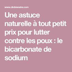 Une astuce naturelle à tout petit prix pour lutter contre les poux : le bicarbonate de sodium