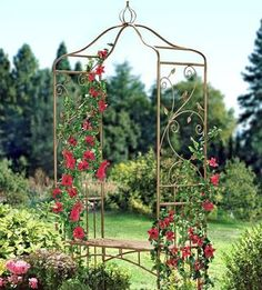 Arbor With a Bench. Side scroll work is interesting...copper tubing?