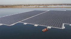 Europe's largest floating solar farm is ready to switch on. Built on a reservoir, (the Queen Elizabeth II), near Heathrow airport in Britain, the solar array is to supply energy to a water treatment plant, the sort of facility that places a huge and often little-recognised drain on electricity. The farm, which is the size of eight football pitches, is expected to generate 5.8 million kilowatt hours of electricity per year.