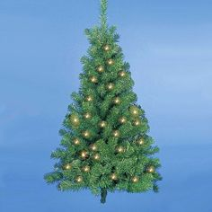 4 PreLit Norway Pine Christmas Wall Tree  Clear Lights >>> Click on the image for additional details.