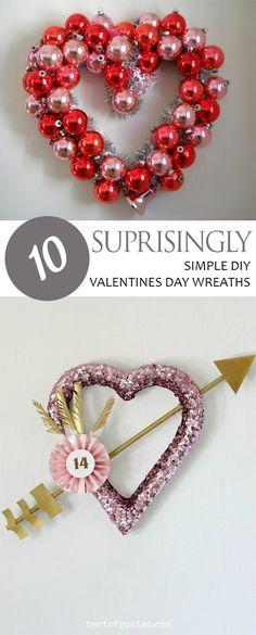 Valentines Day Wreaths, Easy Valentines Day Wreath Ideas, Valentines Day Ideas, Porch Decor, Easy Wreathes, DIY Porch Decor, How to Decorate Your Porch, Valentines Day Porch Decor