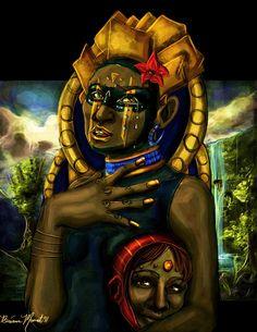 Mask by Briana Monet Walker http://madelftk.deviantart.com/ http://inkandgrease.tumblr.com/