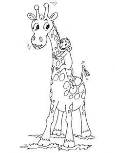 Coloriage pour enfants image d une girafe coloriages - Girafe dans madagascar ...