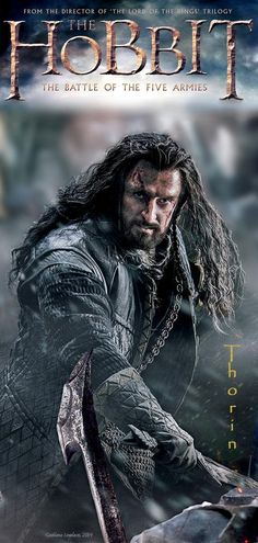 Strong image. Thorin looks so powerful (and Majestic!) even with all his wounds - and we won't let him die from them!! Thanks Grati