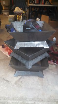 Building some Square fire pits. Made from heavy duty steel- completely…