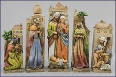 Old World Nativity Scene - 10 inch