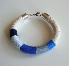 Nautic  rope bracelet eco fashion blue bracelet by dekkoline, $26.00