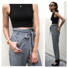 Low Waist Trousers Very cute trousers with tie Zara Pants Trousers
