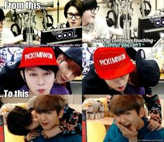 Heechul and Baekhyun's friendship Cute Cute Cute. SUJU EXO