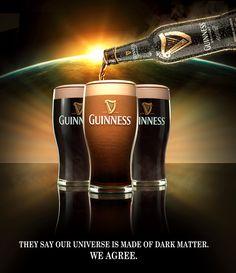Guinness Advert, Beer Advertisement, Guinness Draught, Dark Beer, Dark Matter, Fun Drinks, Craft Beer, Good Things, Scotch
