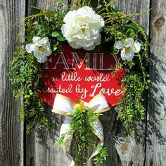 Peony and vines dress up this metal worded sign.🌼