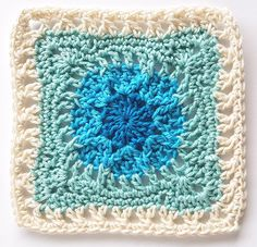 Week 19 Oresand by Shelley Husband 2016 Crochet Squares Afghan, Crochet Square Patterns, Crochet Cardigan Pattern, Crochet Blocks, Crochet Blanket Patterns, Crochet Motif, Crochet Designs, Crochet Doilies, Crochet Stitches