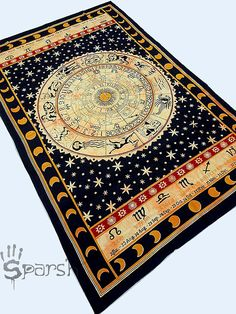 Astrology Tapestry, Hippie Tapestries, Indian Zodiac Bedspread Bed Cover Throw Boho Wall Hanging Twin Hippie Coverlet, Bohemian Wall Decor on Etsy, $14.99
