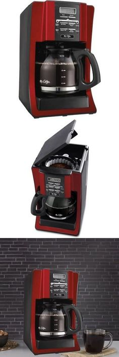 Small Kitchen Appliances: Restaurant Coffee Maker Commercial Programmable Machine 12 Cup Kitchen Pot Red BUY IT NOW ONLY: $60.41