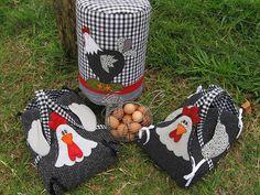 Eu Amo Artesanato: Porta travessa em formato de galinha