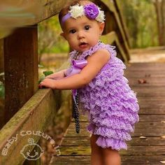 Lavender #Baby Love #Ruffled Lace #Romper Price: Rs 999