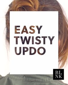 Easy Twisty Updo (because you're going to a bajillion weddings this summer).