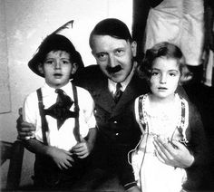 Hitler being creepy with some Aryans