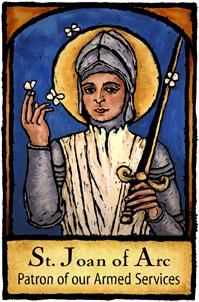 Saint Joan of Arc  Patron of Armed Services
