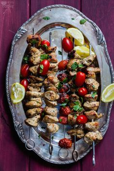 Middle Eastern Chicken Kebab with Tzatziki : Story of cooks Celebration
