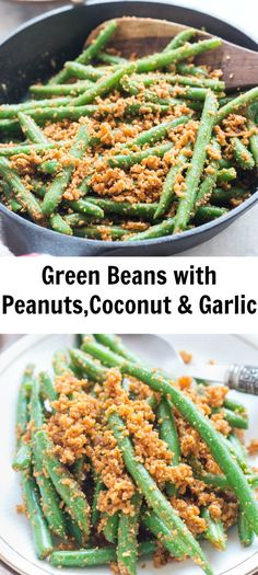 Quick and easy fresh green beans stir-fried with peanuts,coconut, and garlic. Crunchy green beans coated with crushed peanut,coconut and garlic make  If you are looking for a side dish for thanksgiving and want to be little adventurous with flavors then you gotta try this.