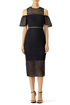 Rent Geometric Lace Cold Shoulder Sheath by Cynthia Rowley for $65 only at Rent the Runway.