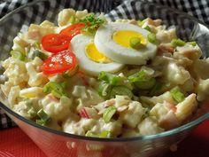 Květák rozebereme na drobné růžičky a uvaříme ve slané vodě na skus, nesmí se rozvařit. Propláchneme ho studenou vodou a necháme... Top Recipes, Low Carb Recipes, Recipies, Healthy Recipes, Guacamole, Pasta Salad, Risotto, Potato Salad, Paleo