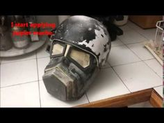 how to make a x 01 helmet from fallout 4 part one - YouTube