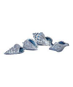 Look at this #zulilyfind! Shirver Ceramic Shell - Set of Four #zulilyfinds