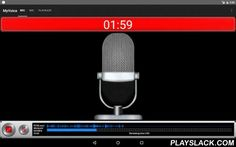 MyVoice PCM Recording Mic  Android App - playslack.com , Record a meeting or a lecture easily. If tie earphone Jack and the microphone input of the PC or a speaker; in substitution for a microphone and the loudspeaker・Cope with recording for the low volume long time in the PCM(.wav) recording &MP4(.m4a) form of high-quality sound!・Visualize a sound recording in vu meter and a visualizer.・A smartphone becomes the earphone output of the smartphone as a substitute for a microphone by…