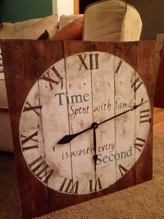 Wood pallet clock made by me