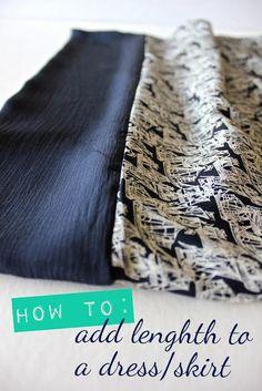 DIY Clothes DIY Refashion DIY Clothes Refashion: DIY Lengthening a Dress : a tutorial