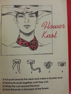Flower Knot (Scarf tying - pg 4)