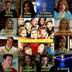 Glee has taught us...
