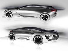 Opel Monza Concept - Design Sketches