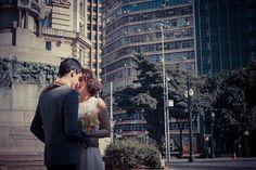O casamento de minha primeira filha, Audrey, com Hidenori.