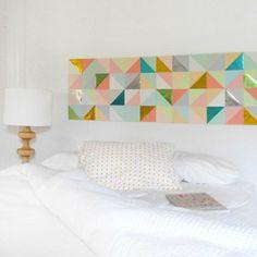 Une tête de lit inspiration origami