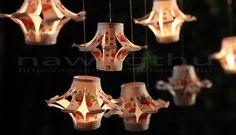 Làm đèn lồng thắp sáng đêm trung thu | nawngthu Easy homemade lantern from papercup