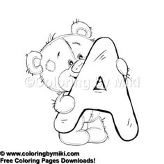 Teddy Bear Alphabets A Coloring Page 616 Kidsactivities Freeprintable Coloringbook Arttherapy