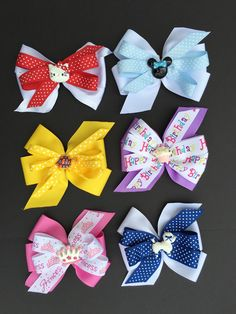 A personal favorite from my Etsy shop https://www.etsy.com/listing/286257305/double-layer-hair-bows-with-resins