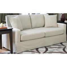SoFab Lily Ivory Slipcover Sofa -