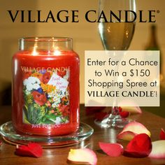 We ♥ our Village Friends so much that we're GIVING AWAY 10% off a purchase of 25.00 or more AND you're entered for a chance to WIN a 150 shopping spree to Village Candle! #contest #sweepstakes #discount