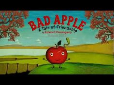 """Bad Apple by Edward Hemingway (bullying. Other apples in orchard bully """"Mac"""" (applebecause he is friends with Willie (worm) Friendship Lessons, Friendship Theme, Friendship Activities, Apple Activities, Autumn Activities, Classroom Activities, Apple Unit, Bad Apple, Apple Theme"""